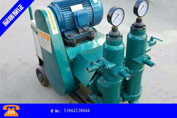 定西通渭县矿用风动注浆泵近期成本报价