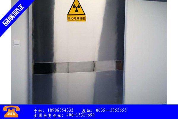 雅安市防辐射铅门种类质量指标