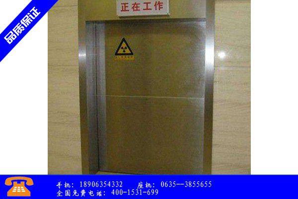 昆明富民县射线防护门安装现场图生产工艺