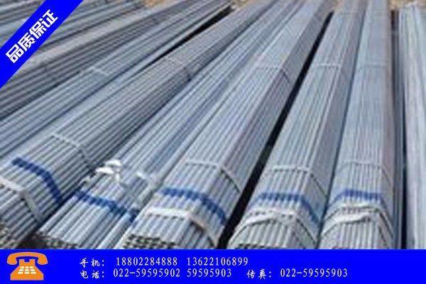 浙江镀锌钢管的形式价格反弹后单月跌 成复产厂家很头疼