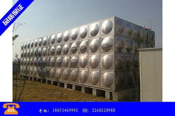 亳州不锈钢拼装水箱恒富水箱价格一直保持涨势后期走跌空间有限