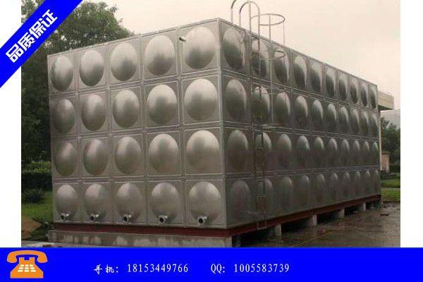 晋城市不锈钢水箱规格表市场销量