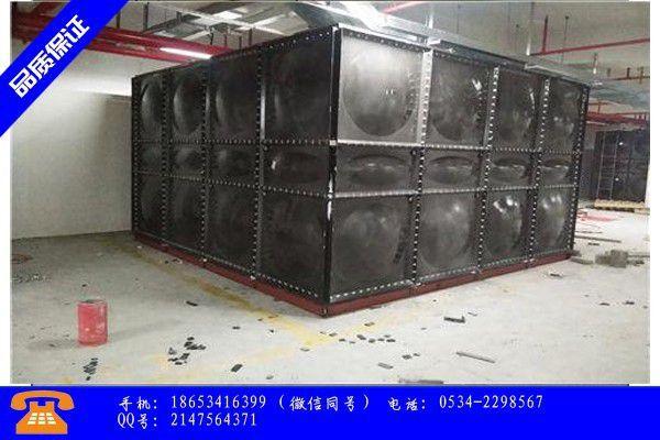 九江甘肃不锈钢保温水箱近期成本报价