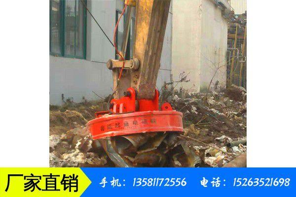 十堰竹山县24伏汽车吊废钢电磁吸盘继续走高价格小幅上涨